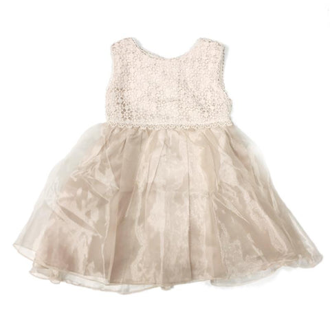 Blink Blank Crochet Snow Tull Dress Champagne - CanaBee Baby