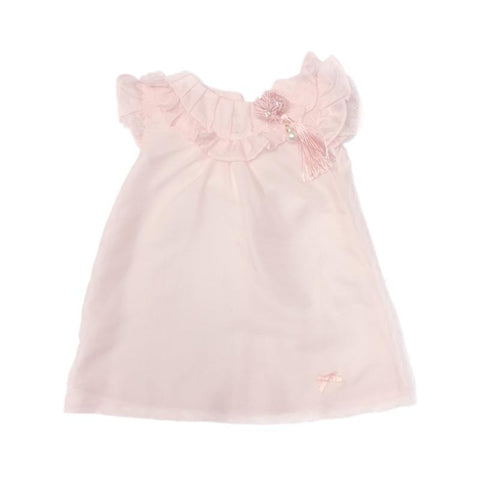 Blink Blank Flower Fringe Dress Pink - CanaBee Baby