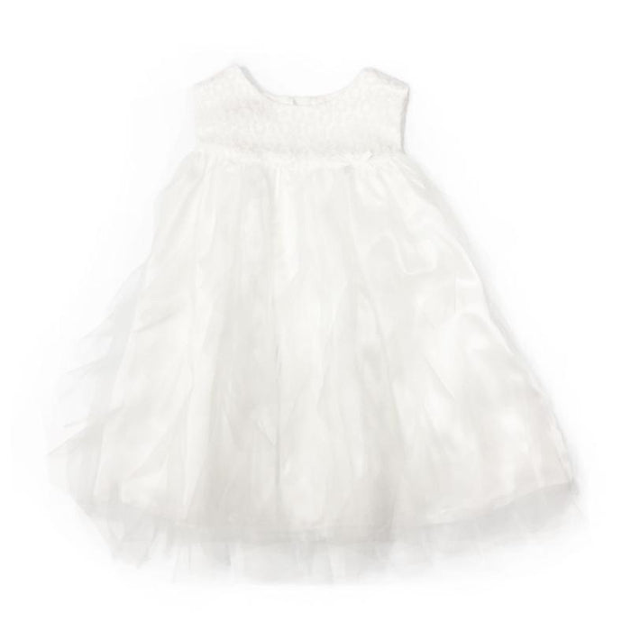 Blink Blank Garland Ruffle Dress White 18-24 - CanaBee Baby