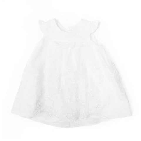 Blink Blank Embroidered Vine Little Dress Ivory - CanaBee Baby