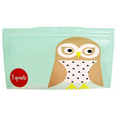 3 Sprouts Reusable Snack Bag Owl