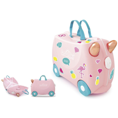Trunki Ride On Suitcase Flossi Flamingo