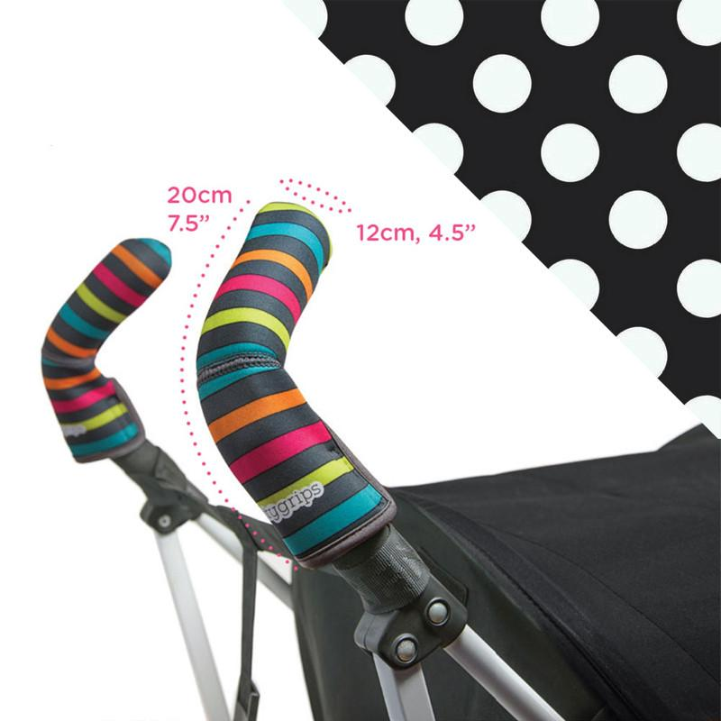 Choopie CityGrips Double Bar - Polka Dots Black/White - CanaBee Baby