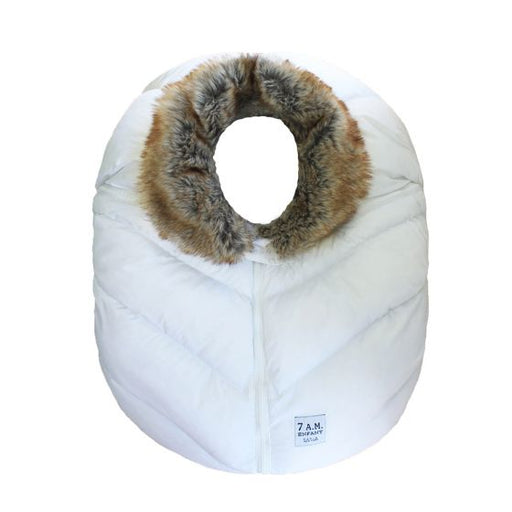 7am Cocoon White Faux Fur Collar
