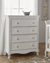 Pali 2404 Diamante 4 Drawer Chest (Vintage White)