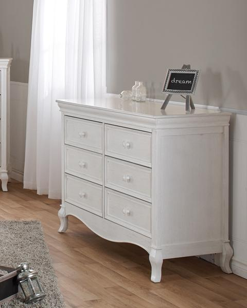 Pali 2406 Diamante Double Dresser (Vintage White)