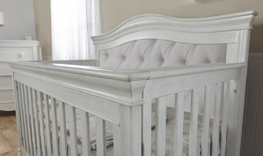 Pali 2400 Diamante Forever Crib w/ Fabric Panel (Vintage White)
