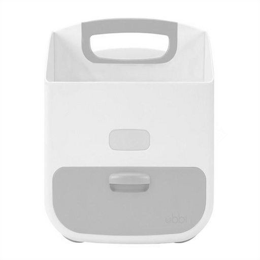 5aa66018fe1 ubbi diaper caddy white grey - CanaBee Baby
