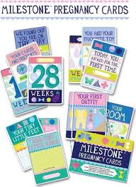 Milestone Baby Pregenancy Cards