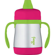 Thermos Foogo Stainless Steel Double Wall Sippy Cup Watermelon/Green 7oz