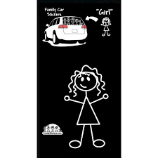 Family Stickers Car Sticker - Girl