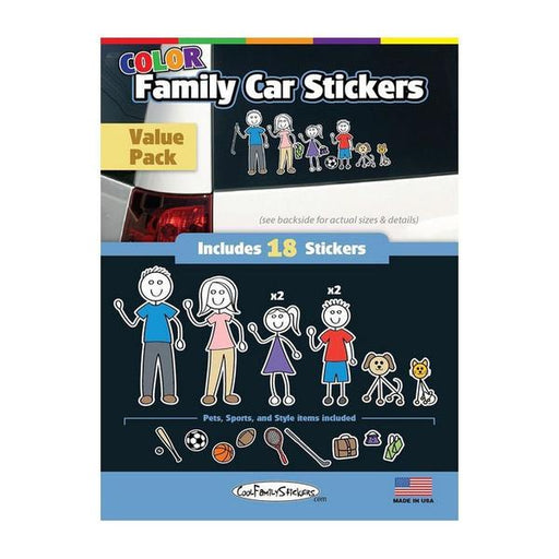 Family Sticker Cool Family Colour 18pcs