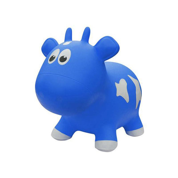Farm Hoppers Animal Bouncers - Cow Blue - CanaBee Baby