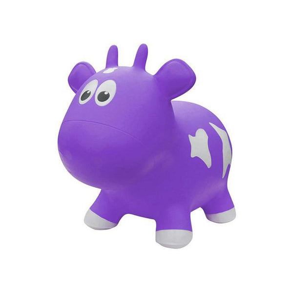 Farm Hoppers Animal Bouncers - Cow  Purple - CanaBee Baby