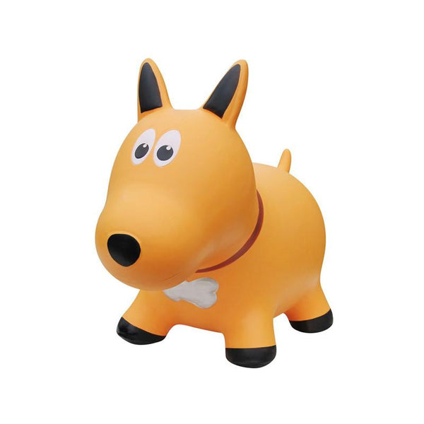 Farm Hoppers Animal Bouncers - Dog Yellow - CanaBee Baby