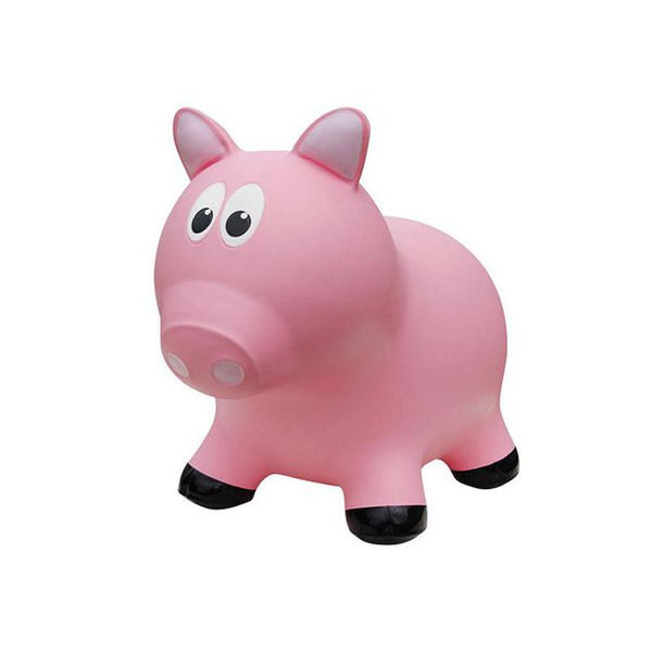 Farm Hoppers Animal Bouncers - Pig Pink - CanaBee Baby