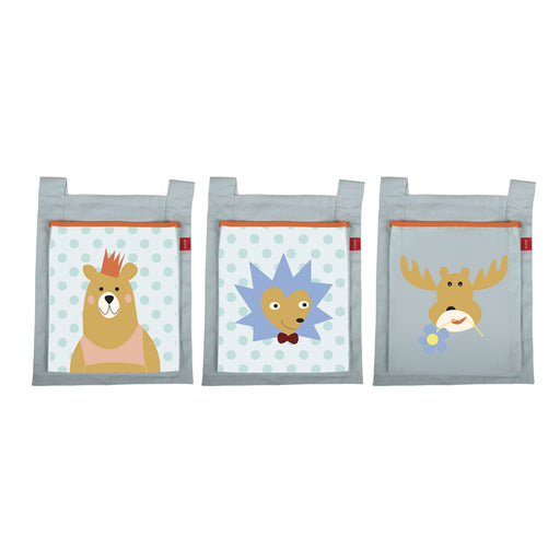 FLEXA Bed Pockets Set 3pcs - Forest