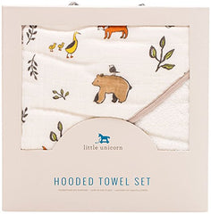 Little Unicorn Cotton Hooded Towel&Wash Cloth Set
