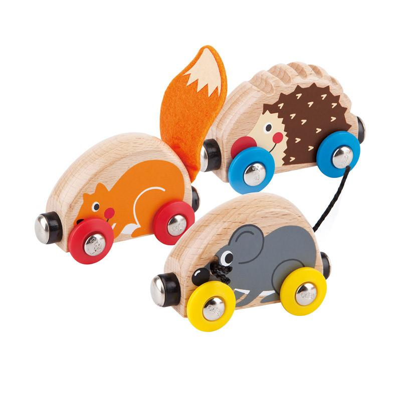 Hape Tactile Animal Train - CanaBee Baby