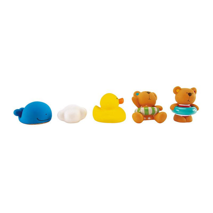 Hape Teddy And Friends Bath Squirts - CanaBee Baby