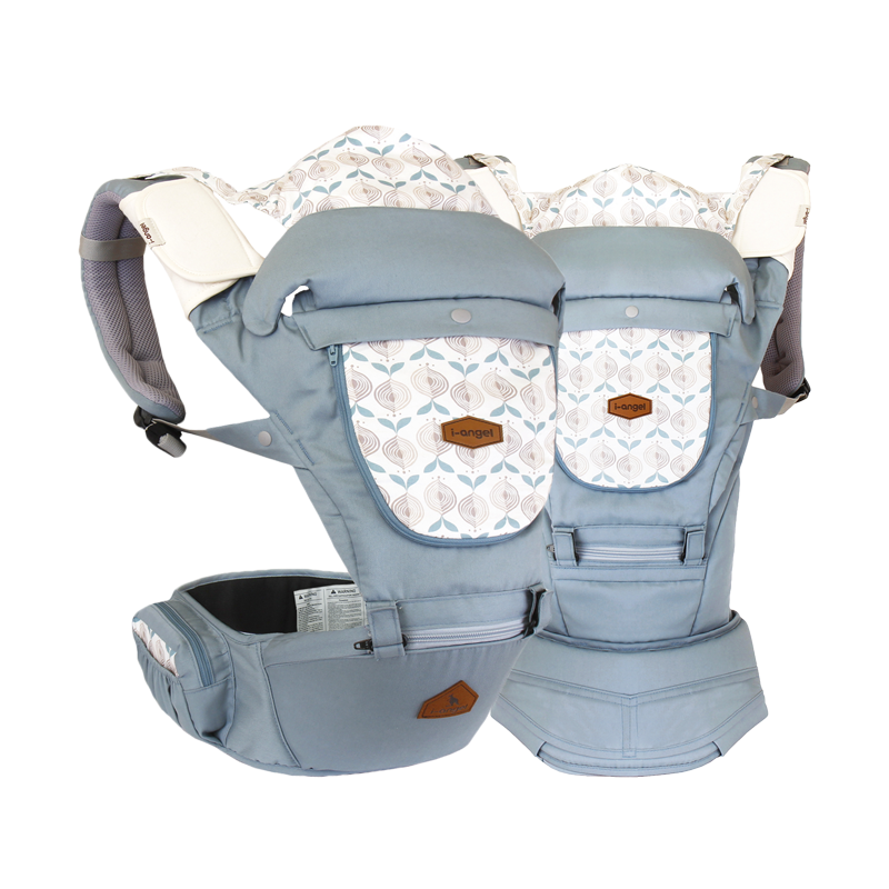 i-Angel Miracle Hipseat Baby Carrier - Powder Blue - CanaBee Baby