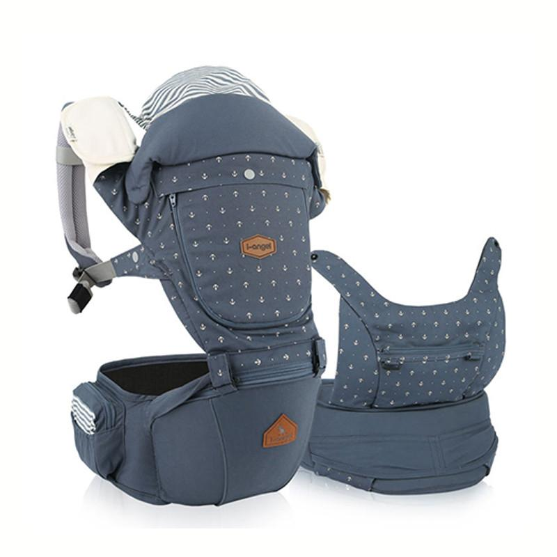 i-Angel Miracle Hipseat Baby Carrier - Stone Blue - CanaBee Baby