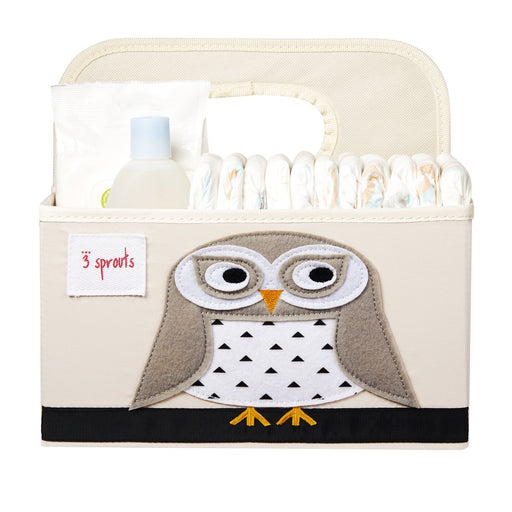 3 Sprouts Diaper Caddy Snowy Owl