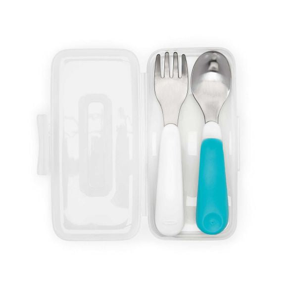 OXo On the go Fork&spoon In Travel Case Teal (61132800)