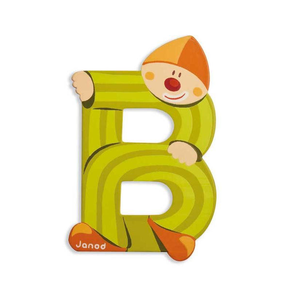 Janod Clown Wood Letters - B - CanaBee Baby