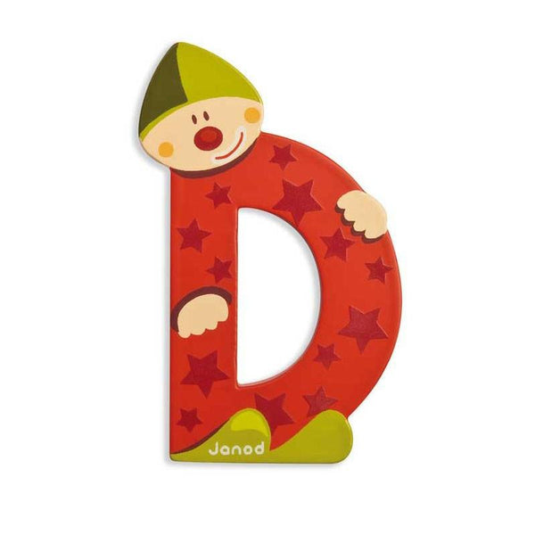 Janod Clown Wood Letters - D - CanaBee Baby