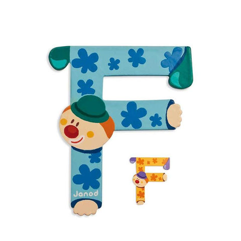 Janod Clown Wood Letters - F
