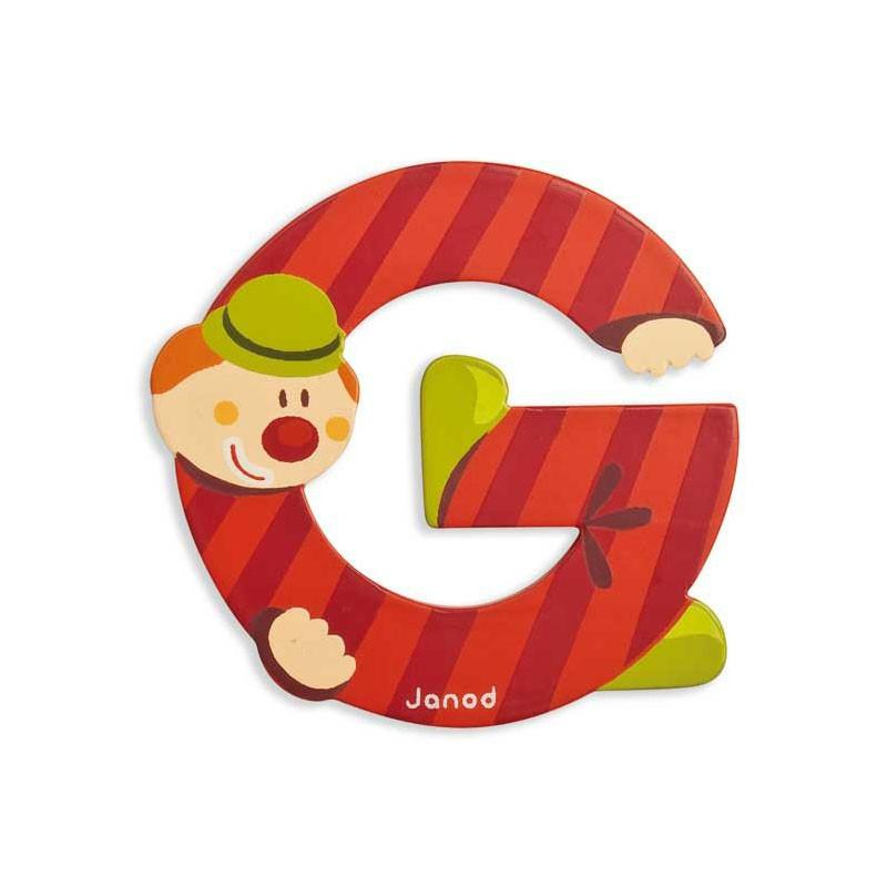 Janod Clown Wood Letters - G