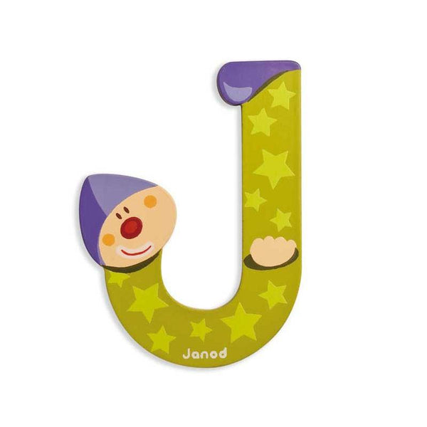 Janod Clown Wood Letters - J - CanaBee Baby