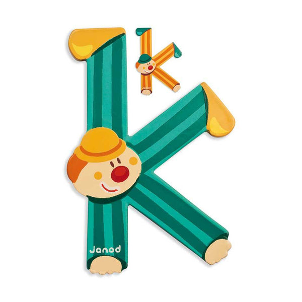 Janod Clown Wood Letters - K - CanaBee Baby