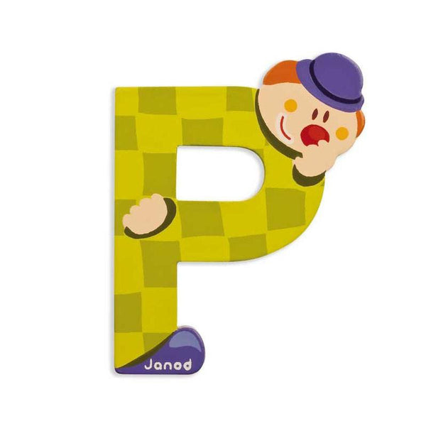 Janod Clown Wood Letters - P - CanaBee Baby