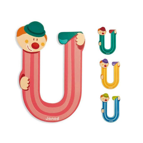 Janod Clown Wood Letters - U