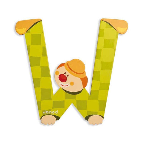Janod Clown Wood Letters - W