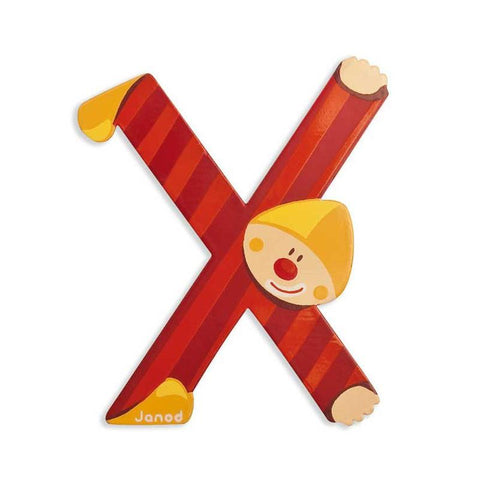 Janod Clown Wood Letters - X