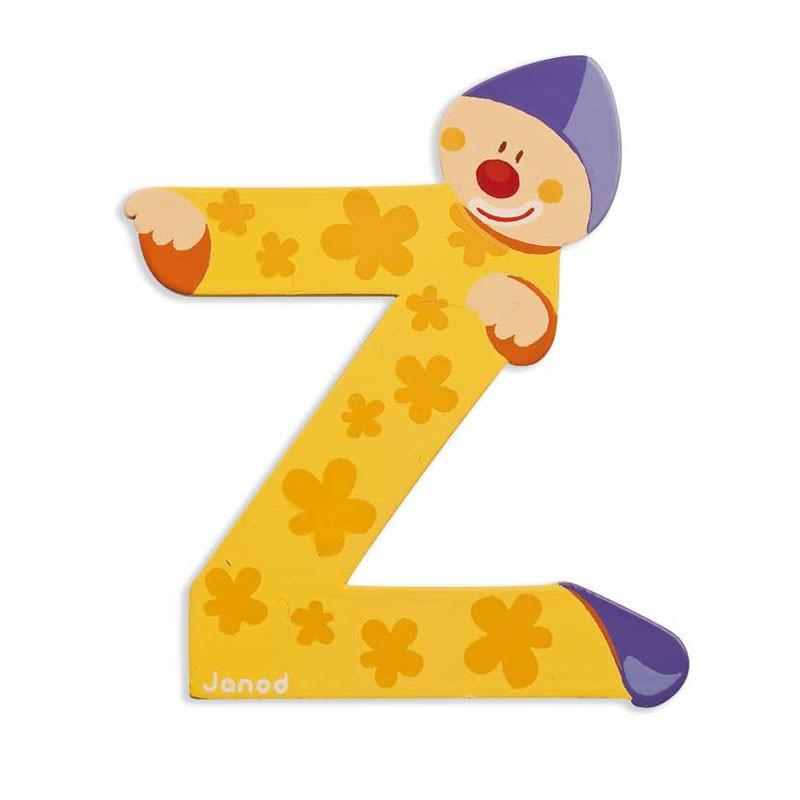 Janod Clown Wood Letters - Z - CanaBee Baby