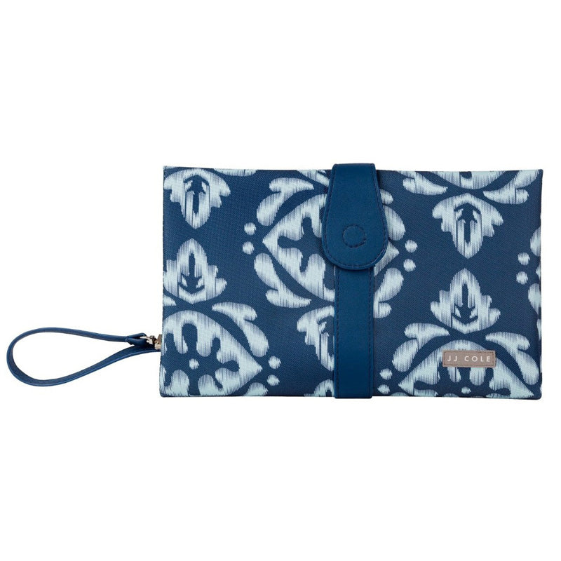JJ Cole Changing Clutch -  Aqua Ikat