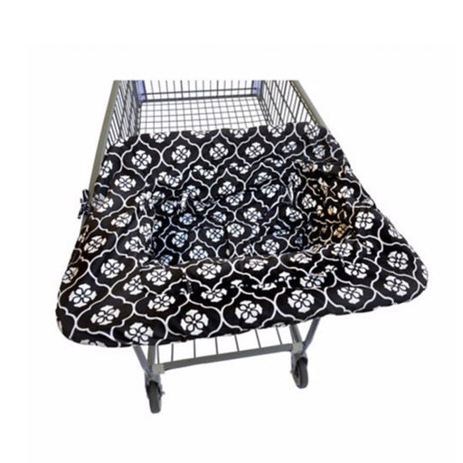 JJ Cole Shopcart Cover Black Floret - CanaBee Baby
