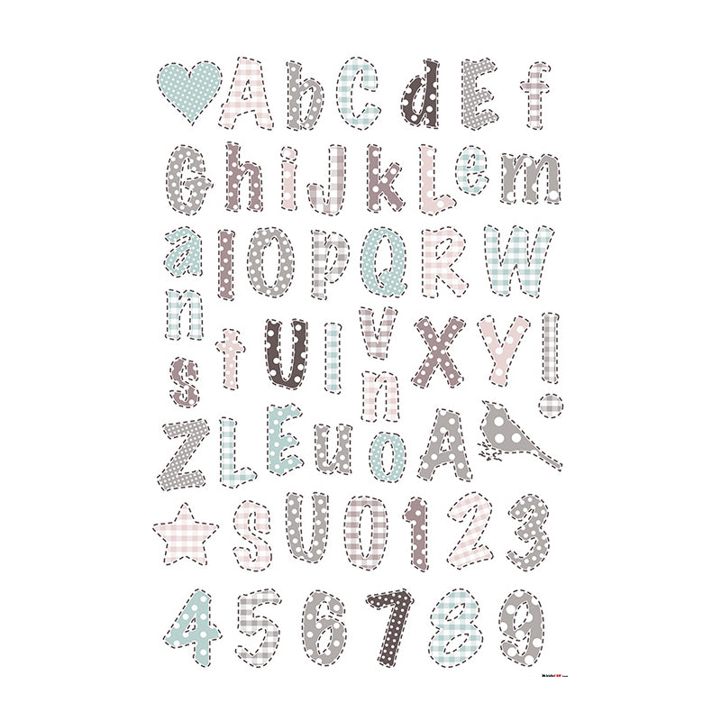 Kidslab Romantic Alphabet Wall Decals - CanaBee Baby