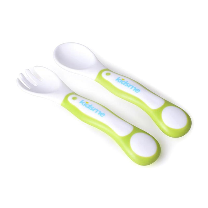 Kidsme My First Fork&spoon Set - Lime - CanaBee Baby