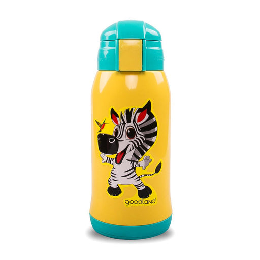 Kumamot 304 2-WAY Kids SUS Vacuum Water Bottle - Zebra