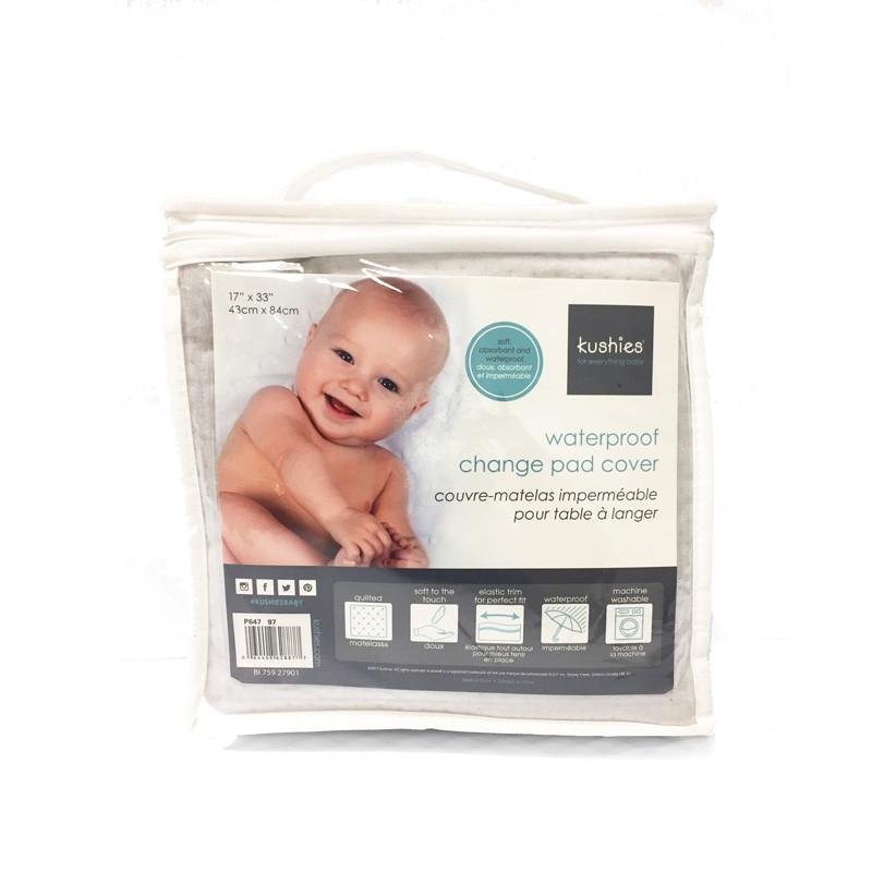 Kushies Waterproof Change Pad Cover - Grey - CanaBee Baby