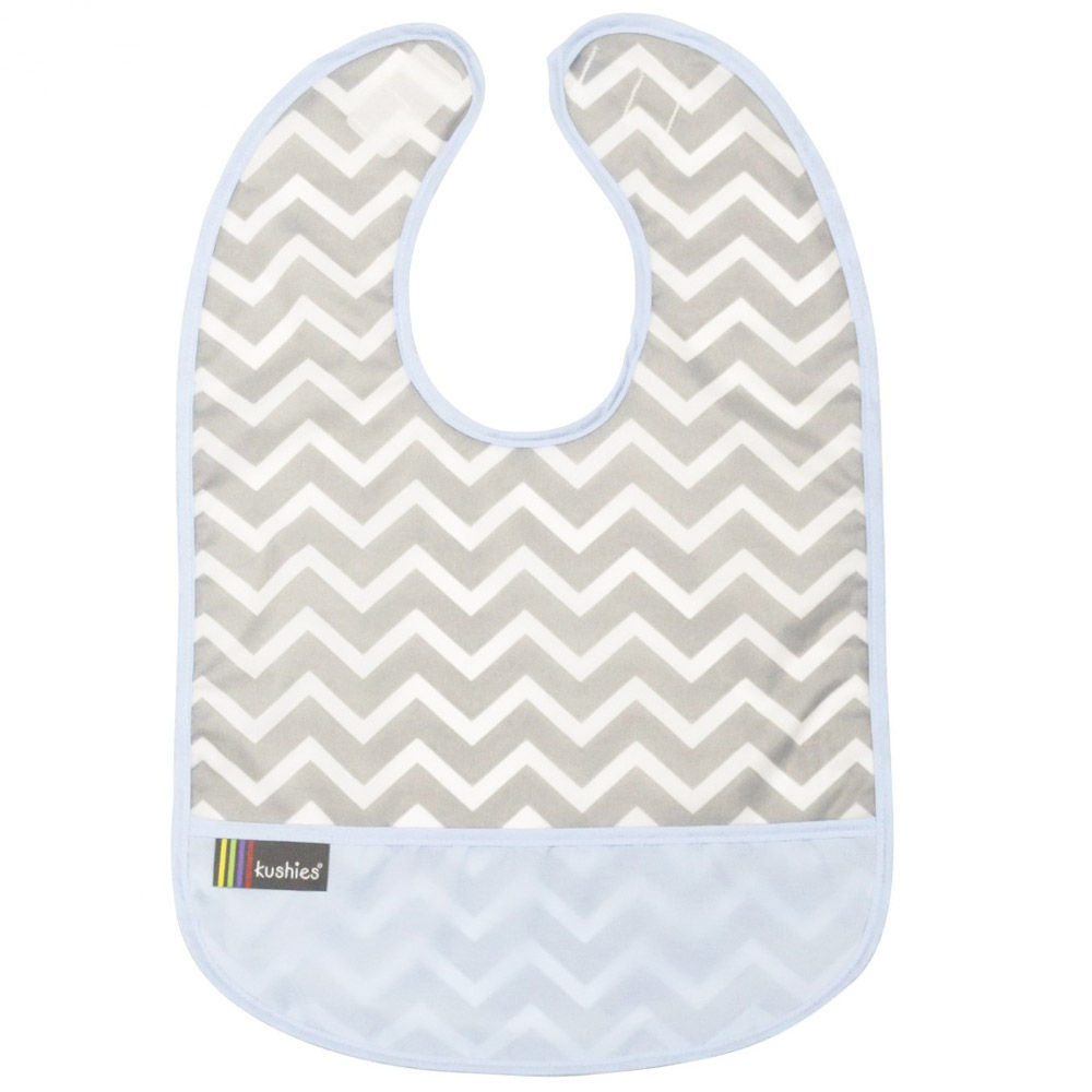Kushies Clean Bib Chevron Blue 6-12m (B1172 B04)
