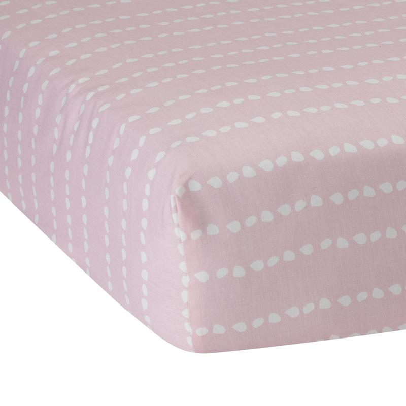 Lambs & Ivy Fitted Crib Sheet - Layla Running Dot - CanaBee Baby