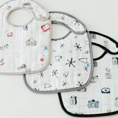 Little Unicorn Boss Baby Cotton Musllin Classic Bib 3pk - Toy Box - CanaBee Baby