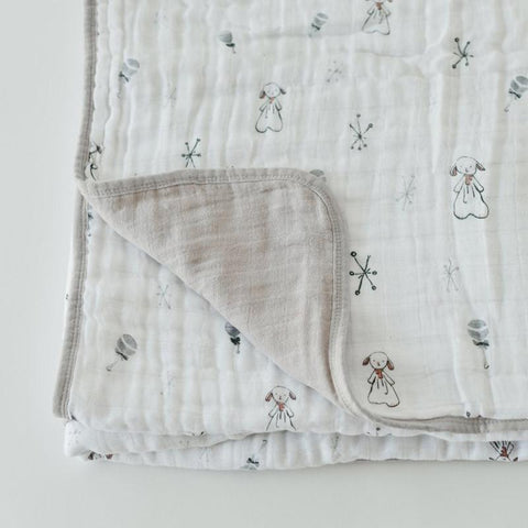 Little Unicorn Boss Baby Cotton Muslin Quilt - Lamby - CanaBee Baby
