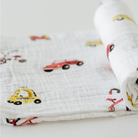 Little Unicorn Boss Baby Cotton Muslin Swaddle 1pk - Transportation - CanaBee Baby
